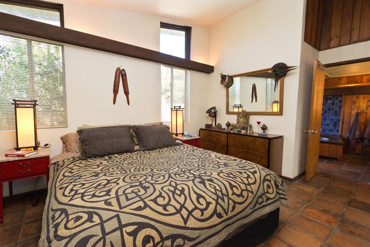 The Master Bedroom has a double large bathroom en suite.