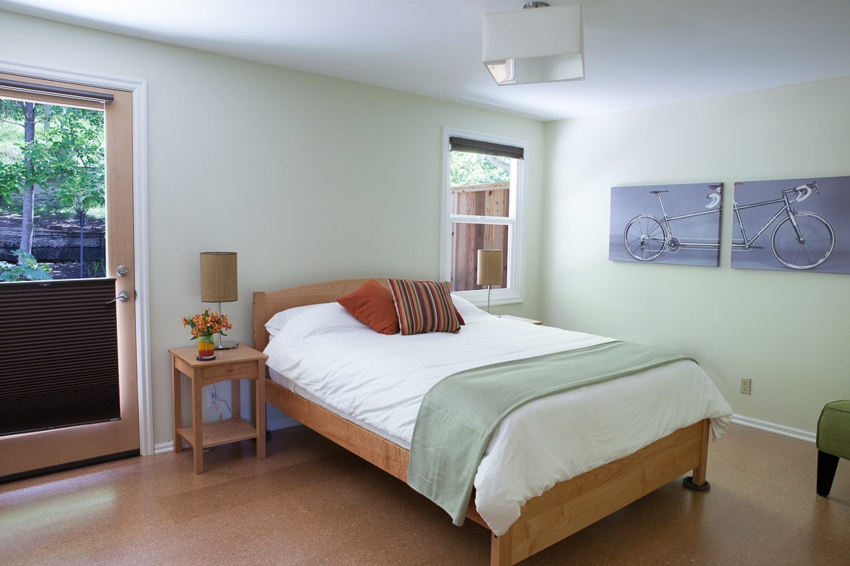 The Tandem Room: spacious with its own door out to a private patio.