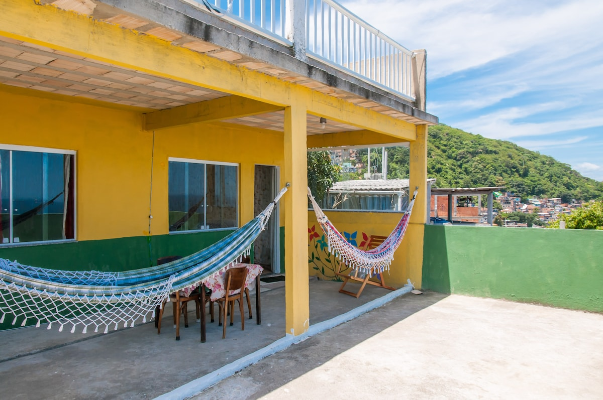 The hammocks are detachable and so you can put them up and take them down as you want to use them.