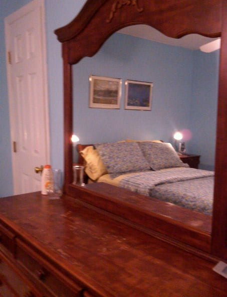 !2 by 14 bedroom with beech hardwood floors and an approx 6 by 4 lighted walk-in closet.