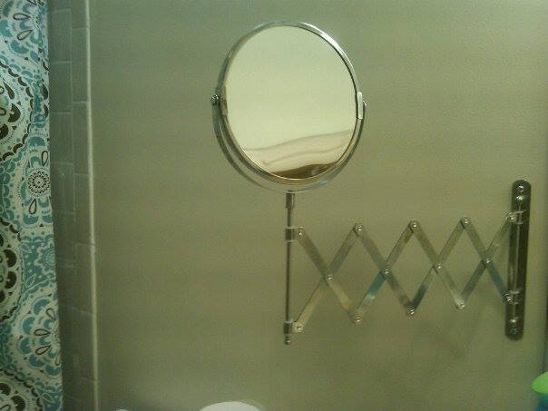 A manifying mirror is a welcome perk for makeup and grooming needs.:)