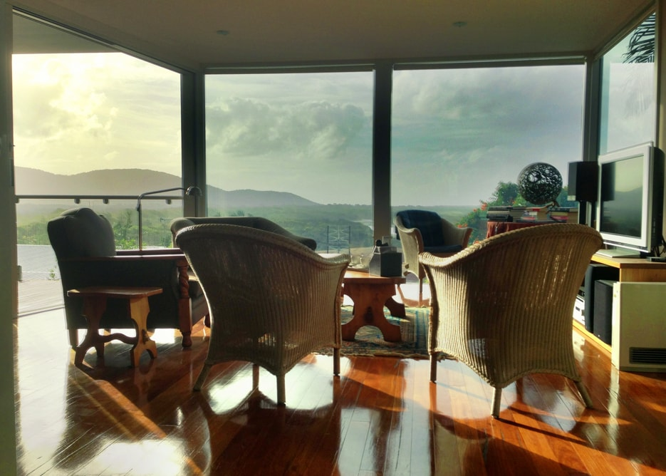 We often experience spectacular skyscapes - the floor to ceiling windows let them right in for you to enjoy!