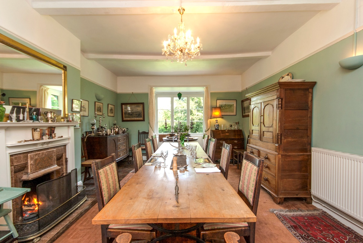 Massive, handmade oak dining table for convivial meals