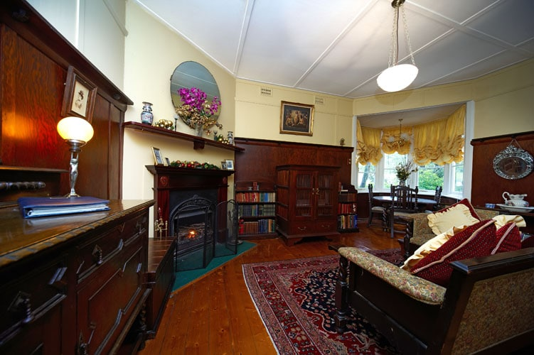 Antiques and charm with stunning open fireplace