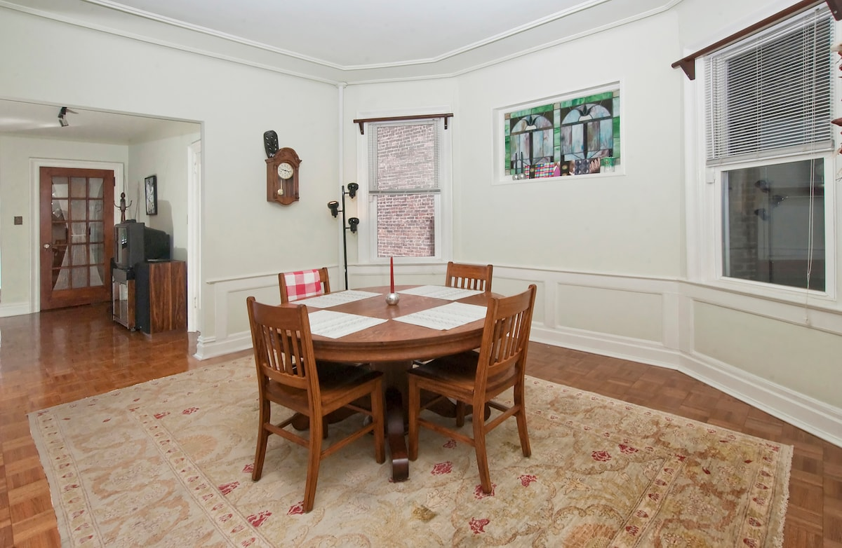 Huge dining area across from the kitchen.
