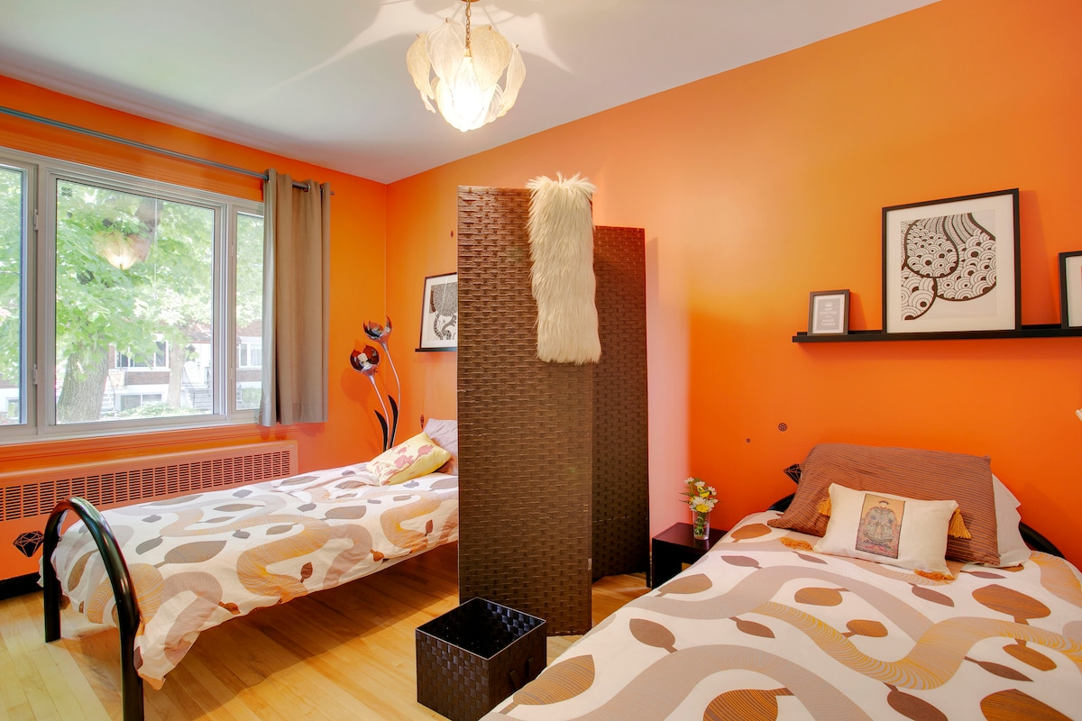 Stylish room, 2 minutes from metro!