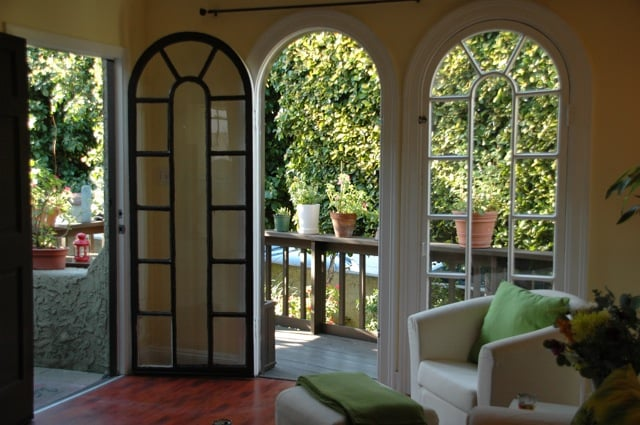 Arched Patio Doors off of the living room