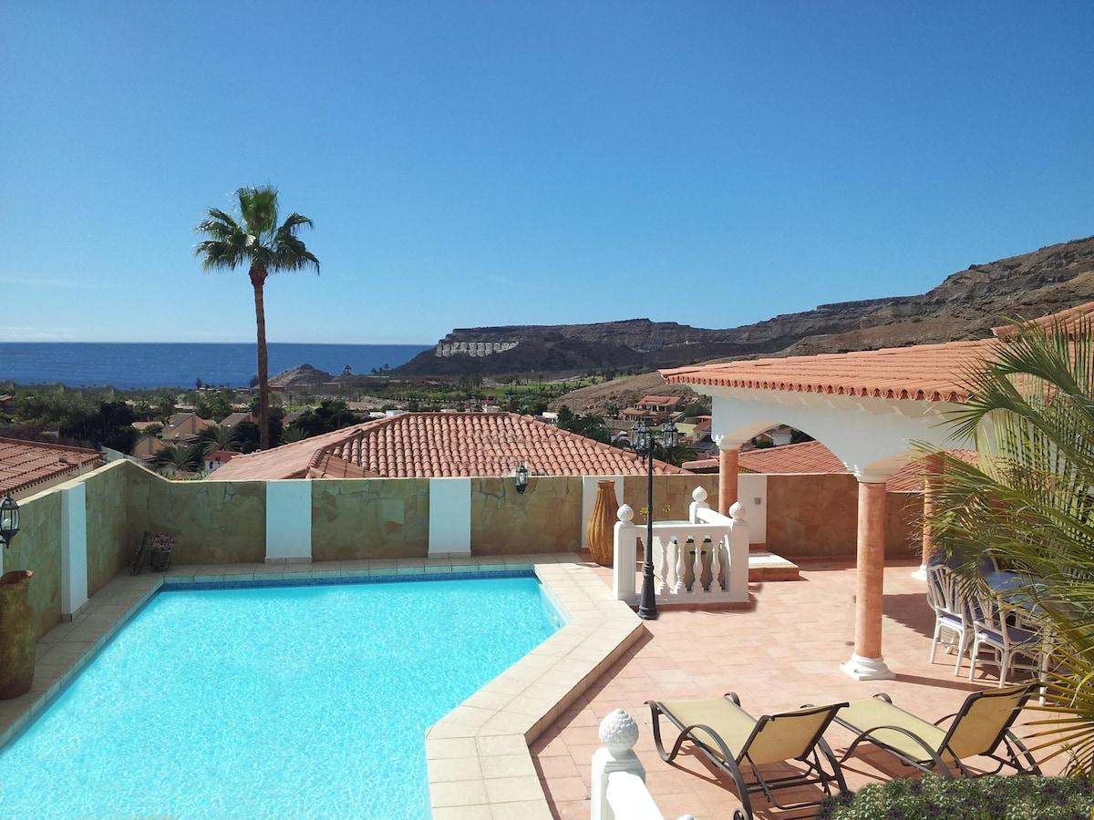 Luxurious villa in gran canaria in mog n for Villas en gran canaria