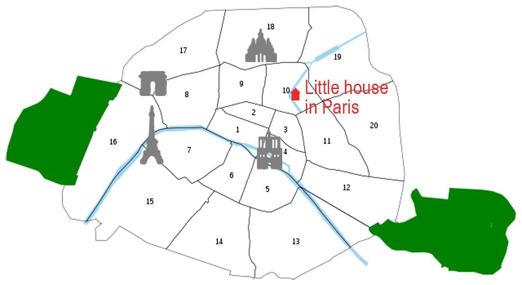 Little house in Paris, Loft, Canal