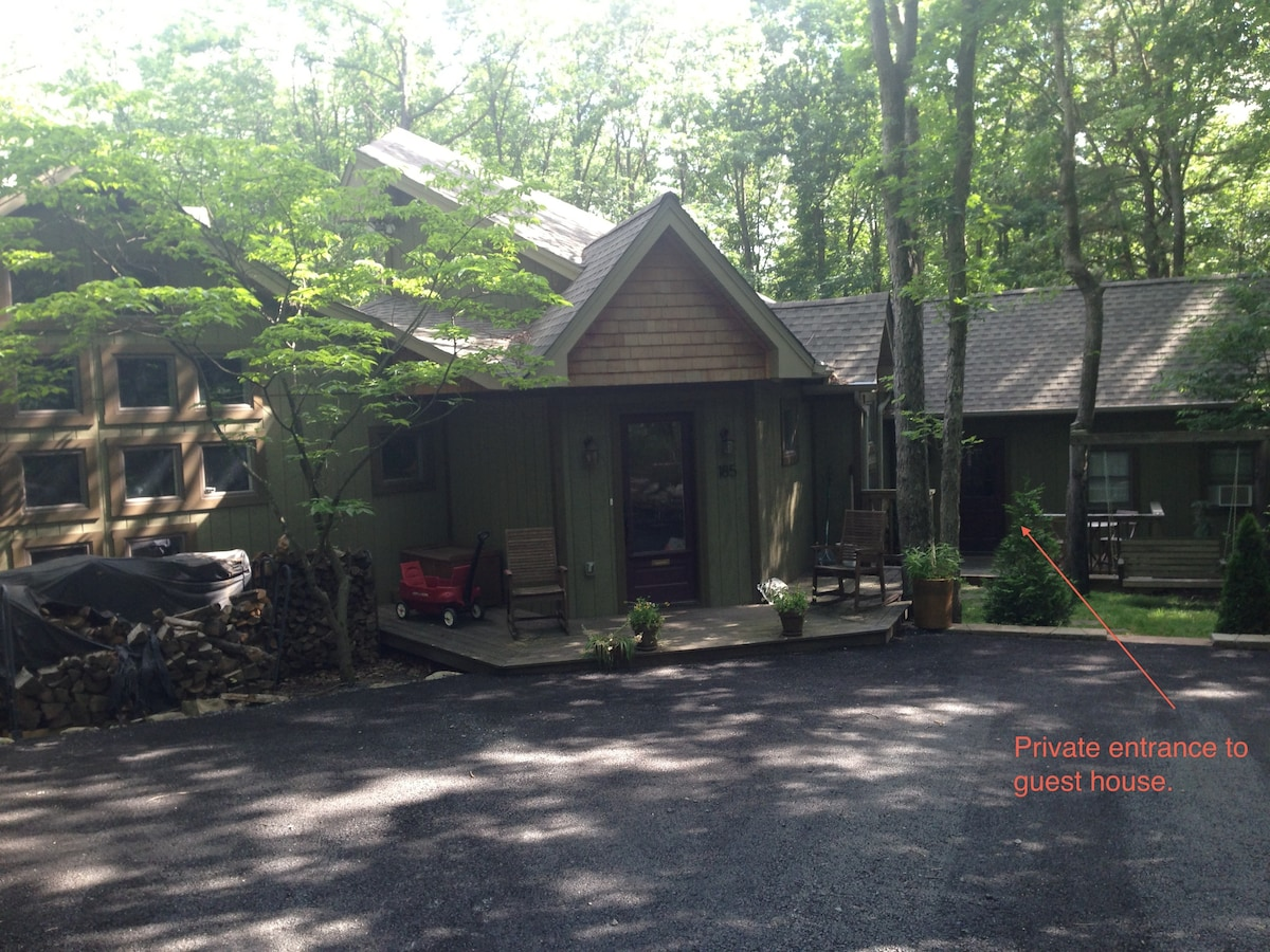 Immaculate home in wooded seclusion