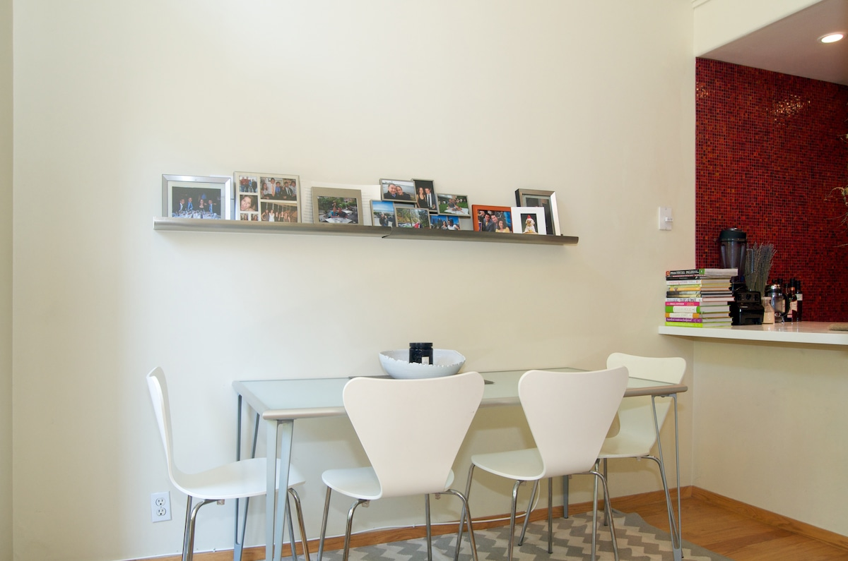 Small dining area is the perfect place to enjoy breakfast or dinner made in our kitchen.