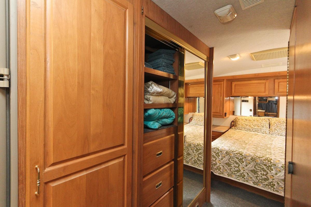 Generous closet space.