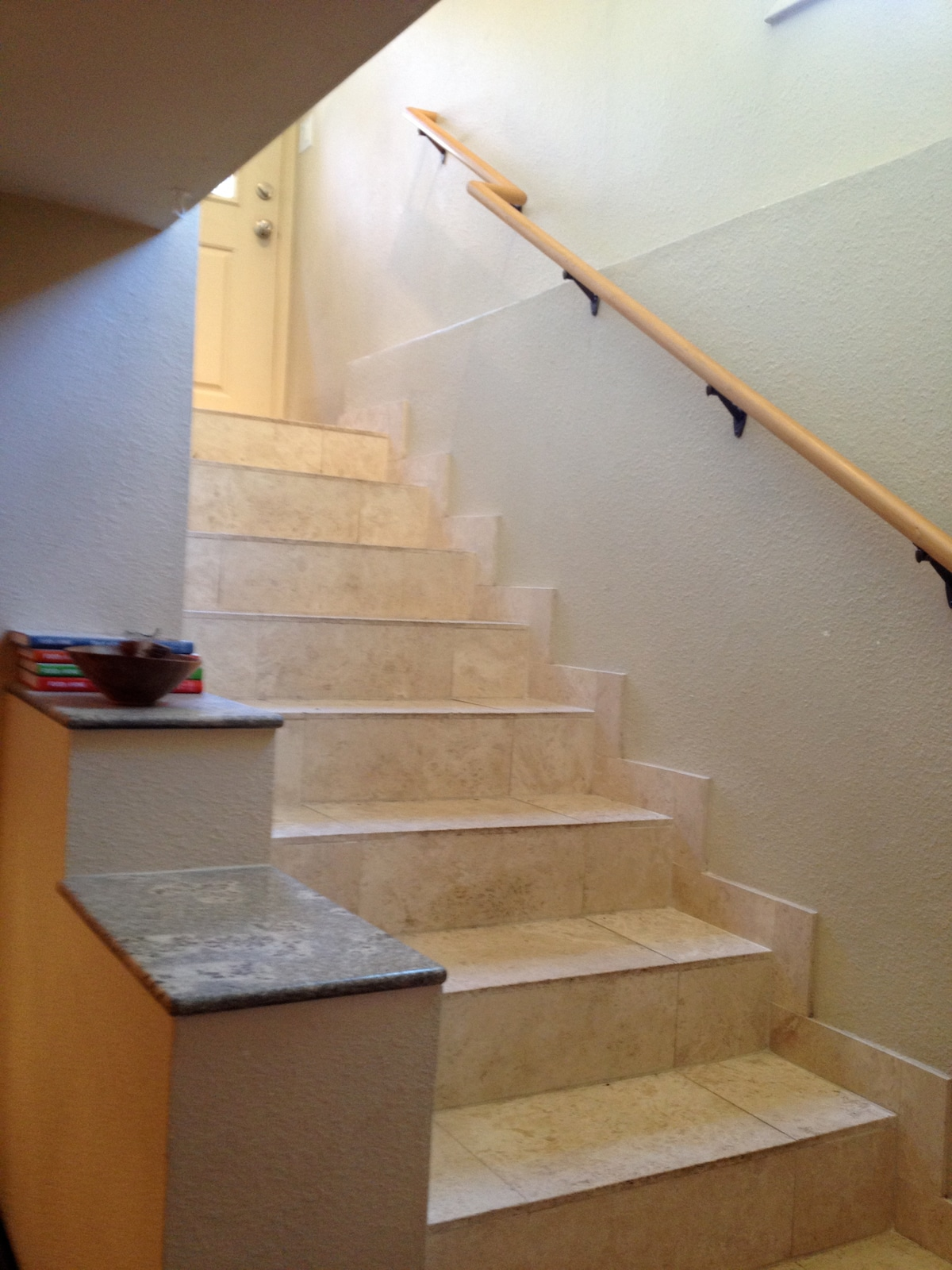 marble stairs and floors throughout