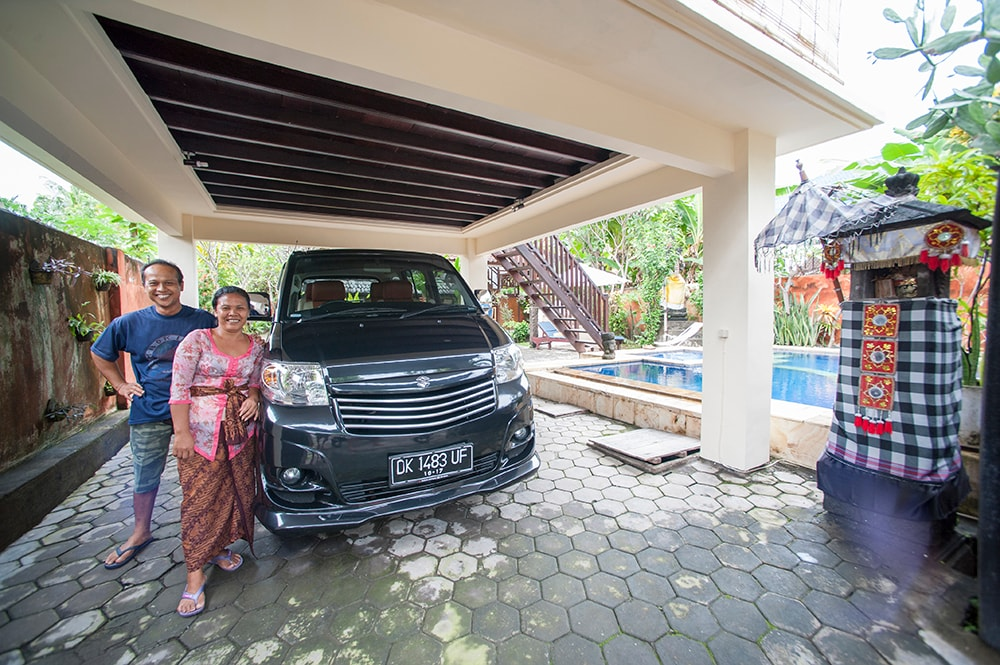 Our staff, driver Putuh and housekeeper Kadek will give you a warm welcome