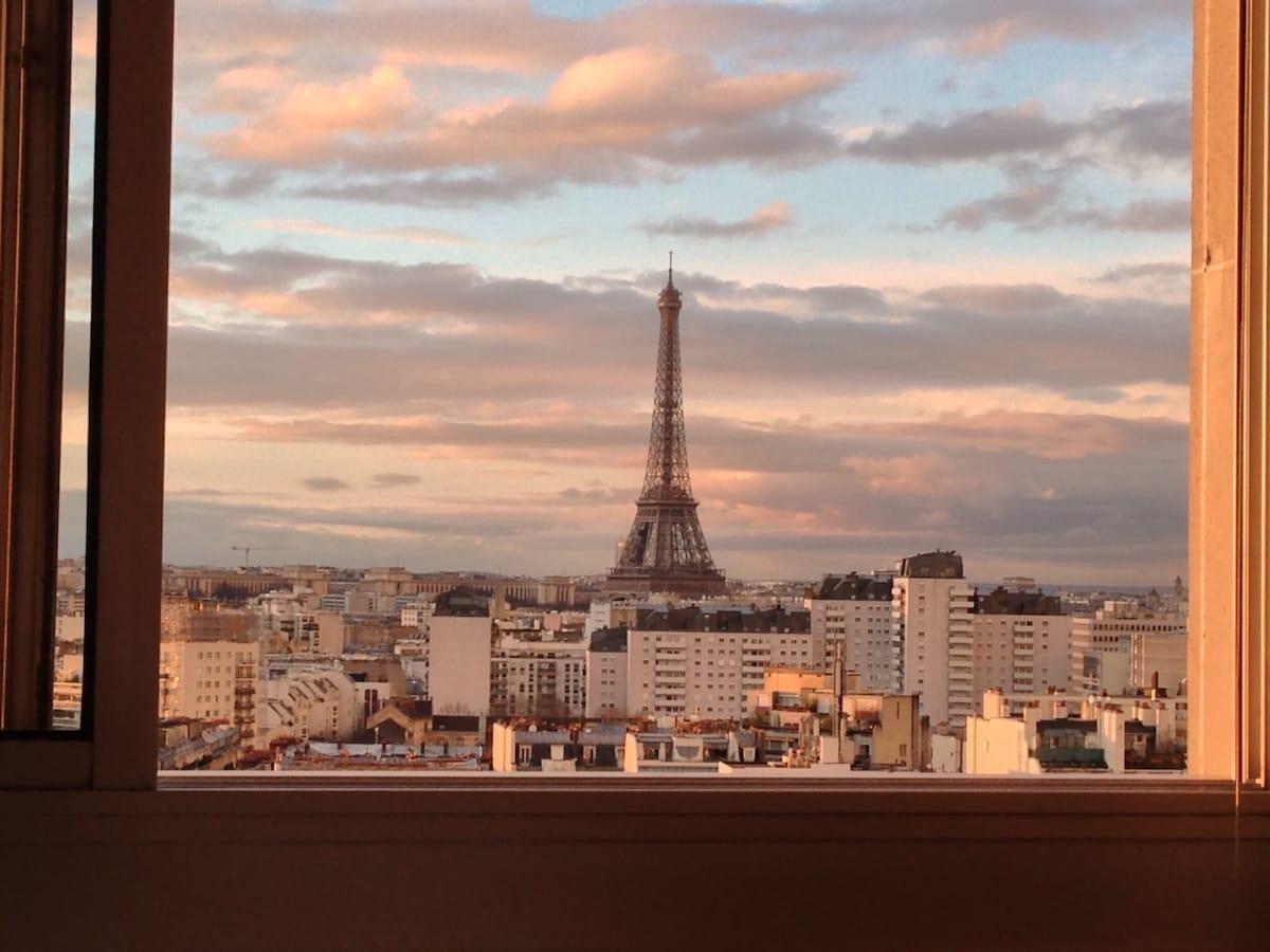 Studio gorgeous Effeil Tower view