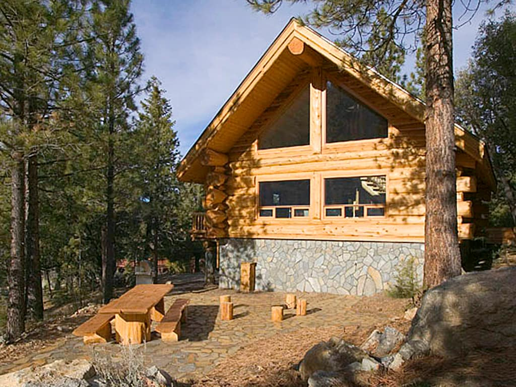 Unique log cabin in pine mountain club for Airbnb cabins california