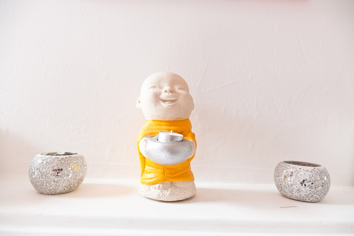 My cute little smiling baby buddha made entirely of salt!