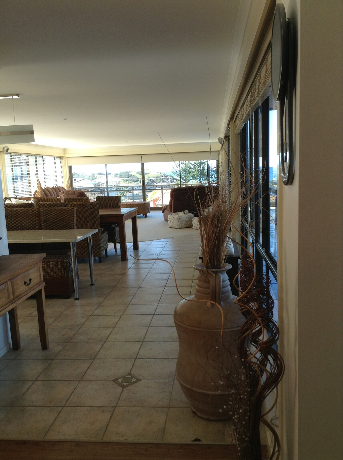 Expansive Living area from entry.
