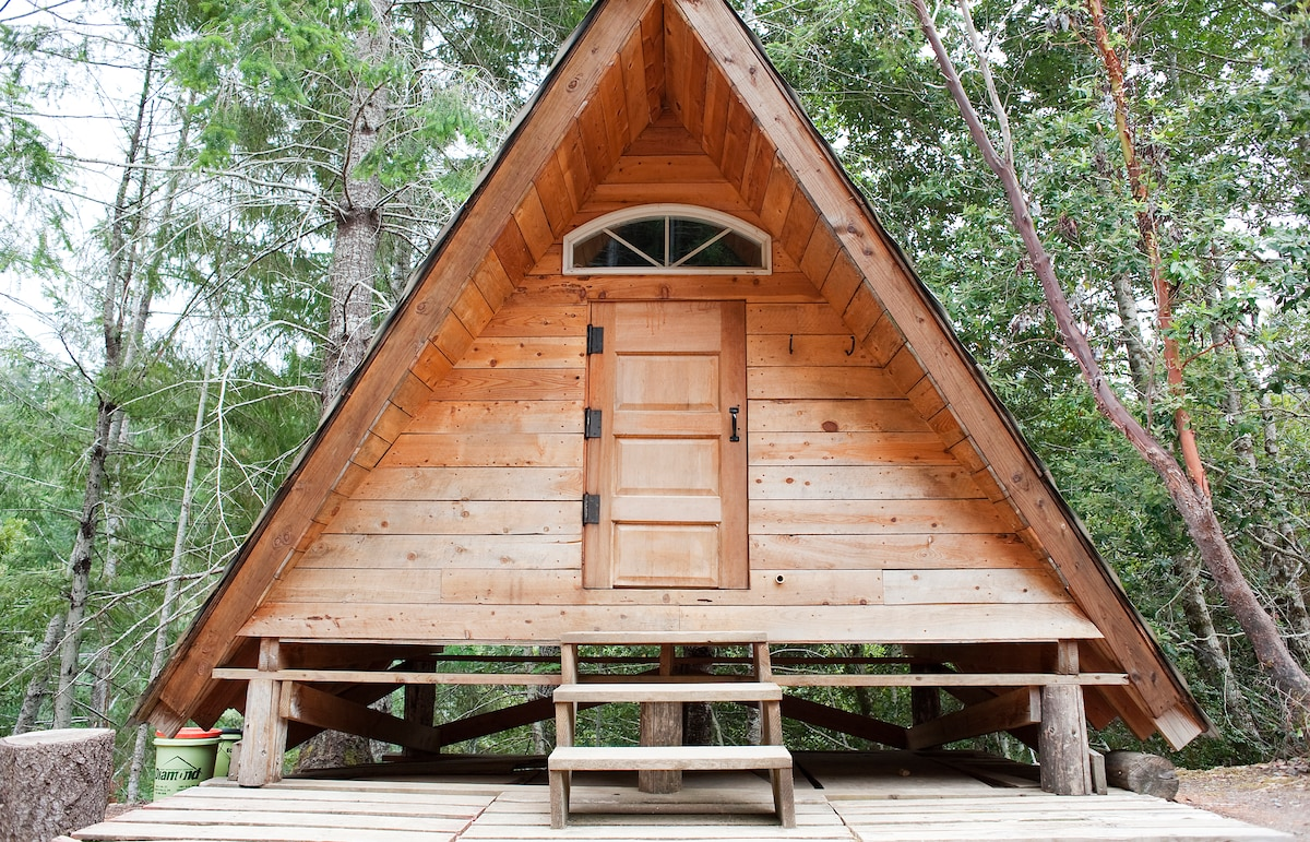 Hobbit-sized door; this is a Small Cabin!