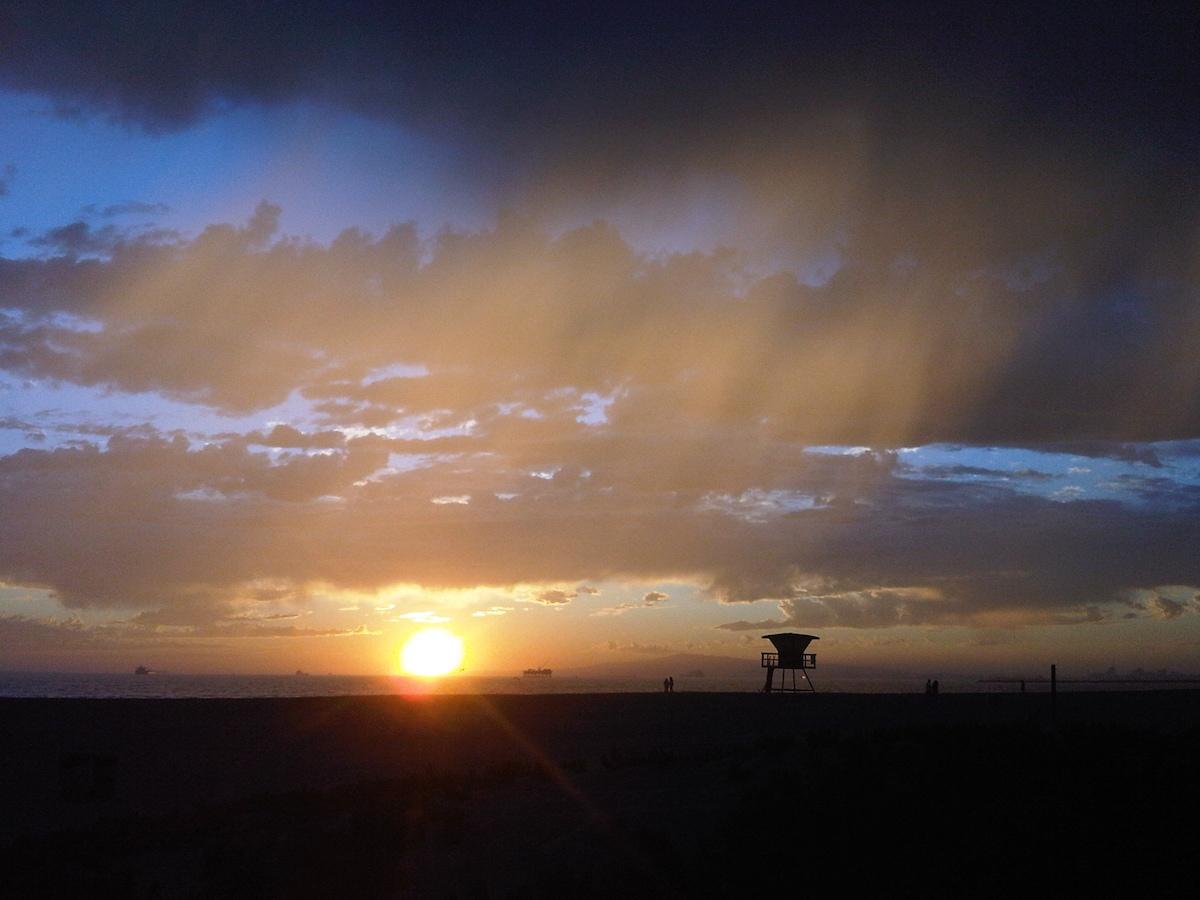 One of the many amazing sunsets...