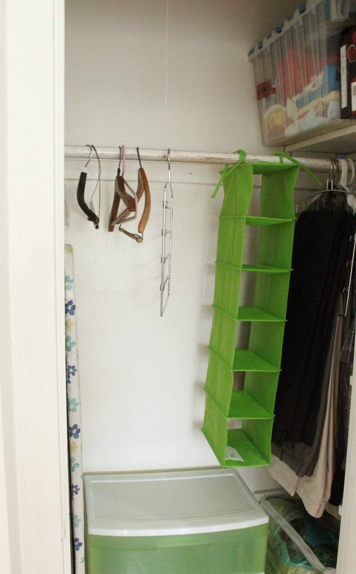 closet space in private guest room