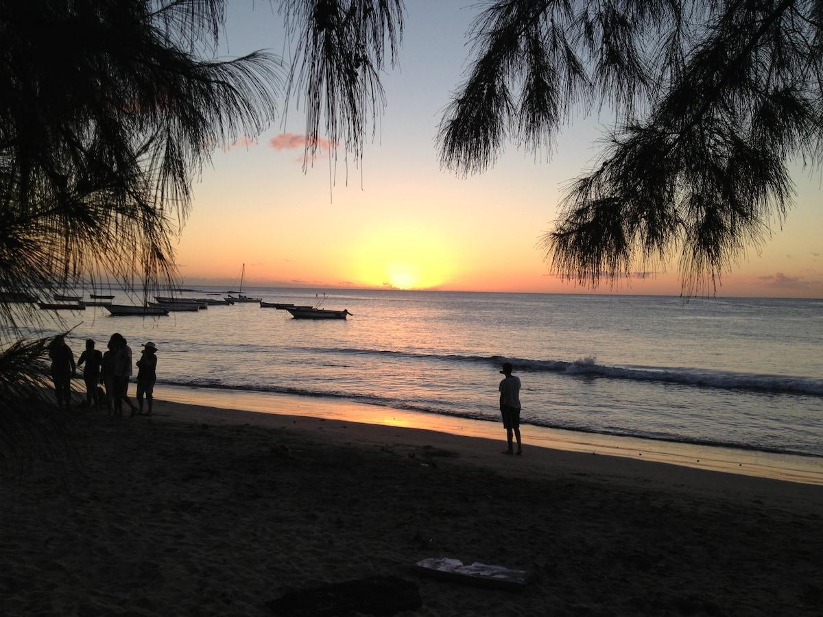 Sunset at Tamarin Bay