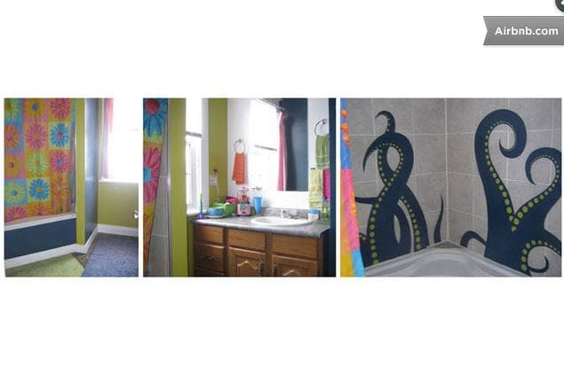 A few pix of the upstairs washroom & shower. We also have another washroom (toilet/sink only) in the basement.
