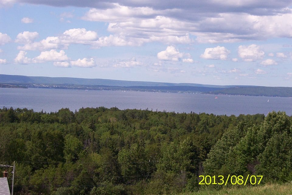 Summer view of the Great Bras D'Or Lake and Cape Breton Highlands!