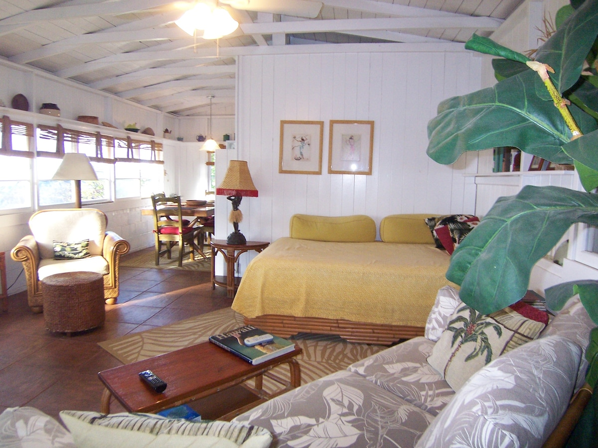 The living area includes a double bed (punee).