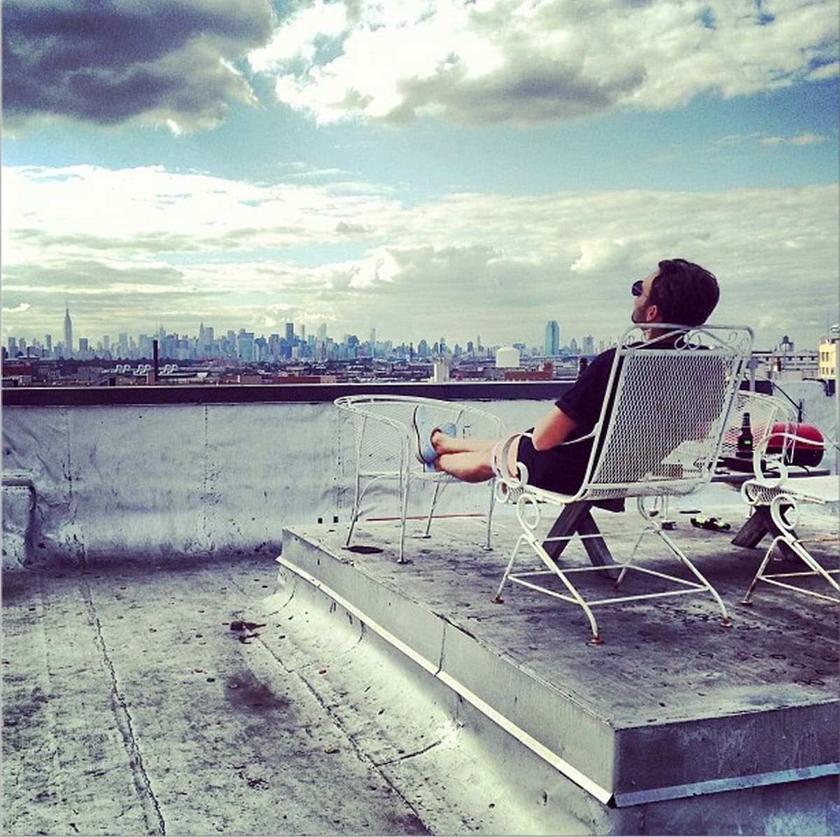 The rooftop with amazing New York panoramic view. Can't get better then this!