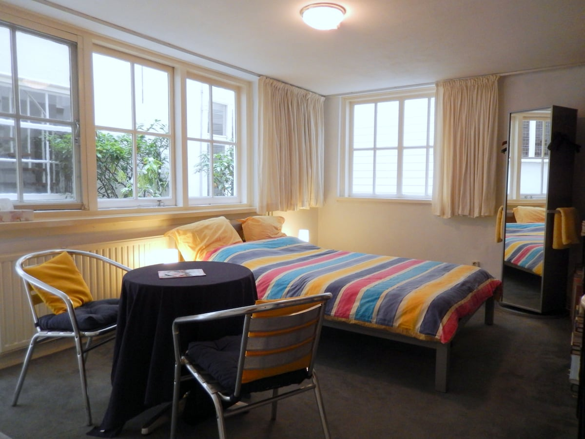 Quiet, spacious, light, sunny studio, with a private entrance and on walking distance from everything that's worthwhile seeing in Amsterdam