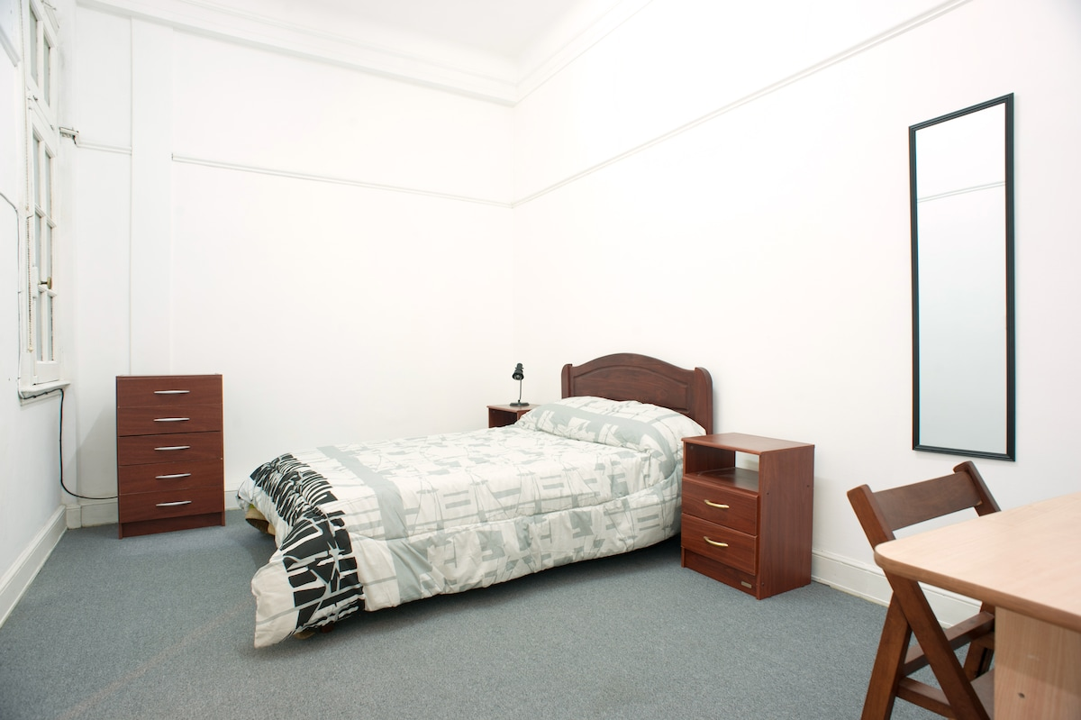 Big bedroom. There is a mattress for one person behind the bed =)