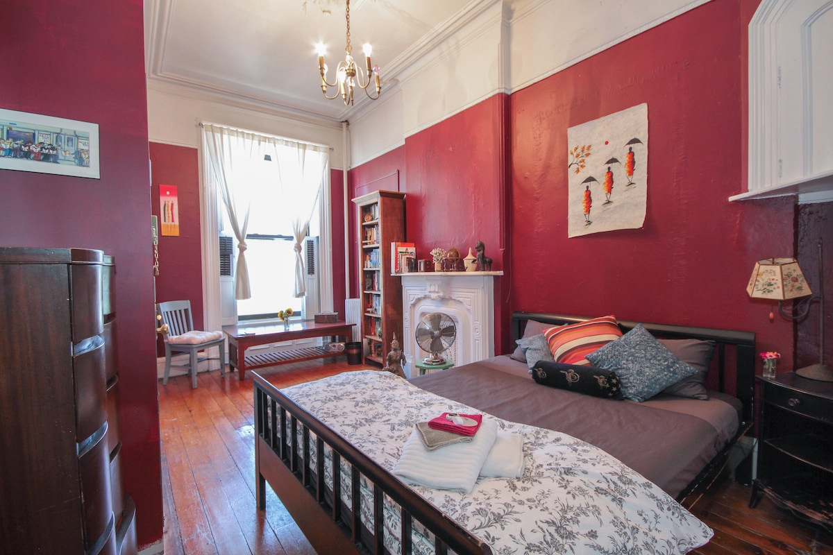 Charming BR in brownstone farmhouse