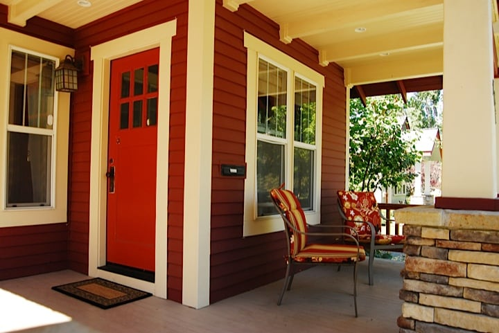 Inviting front porch, love hanging out here on this quiet street with great friendly neighbors.