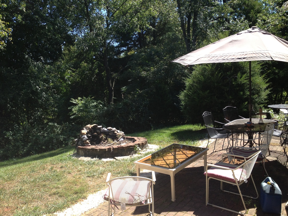 Relax on the Patio overlooking the back pasture surrounded by nature, wildlife, etc. !