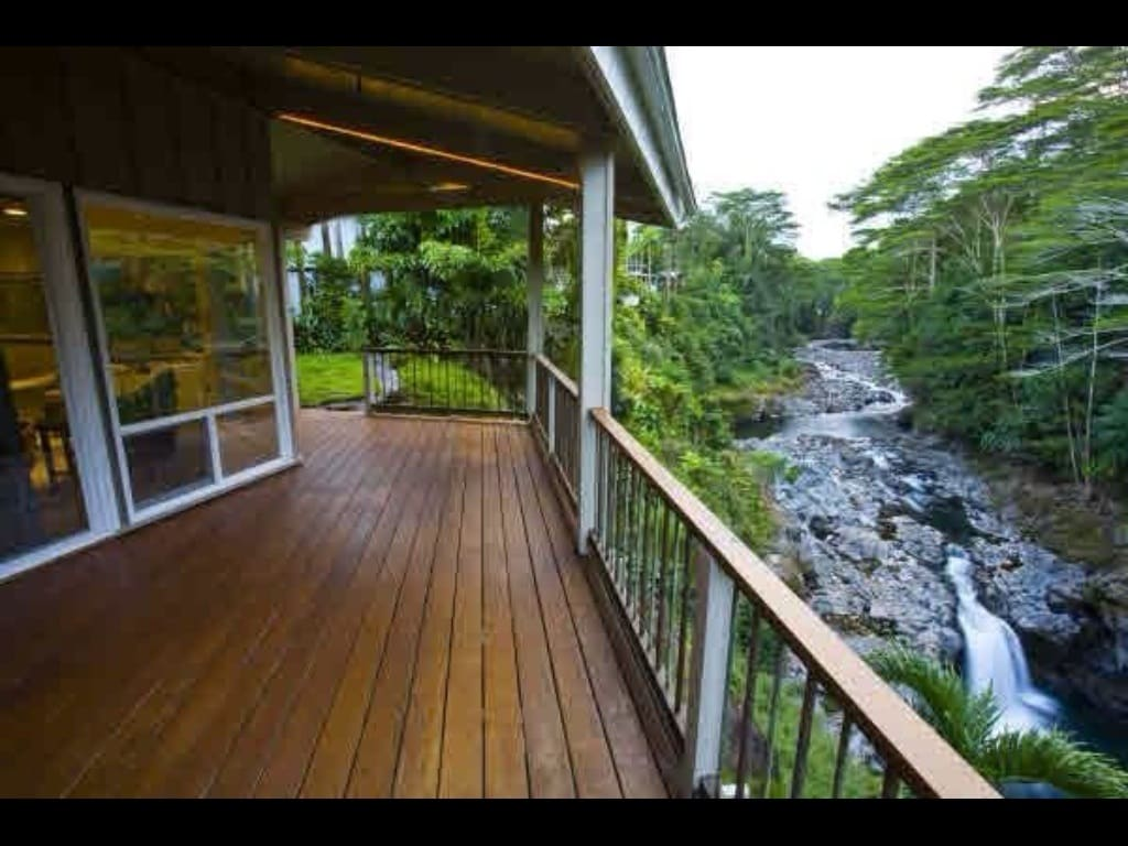 Spectacular falls view at the River Retreat at Reeds Island. A paradise found!