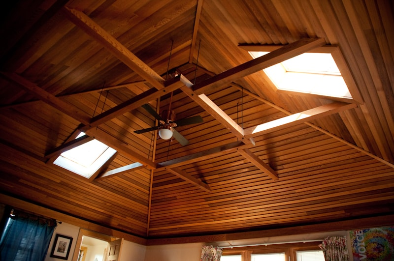 You can smell the wonderful aroma of cedar lofted ceilings with skylights.