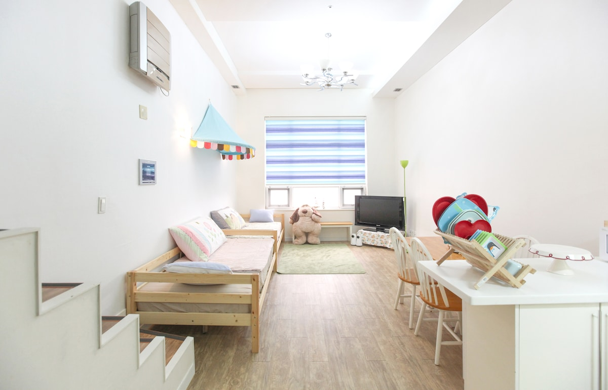 Teddy's house for family(3bed)