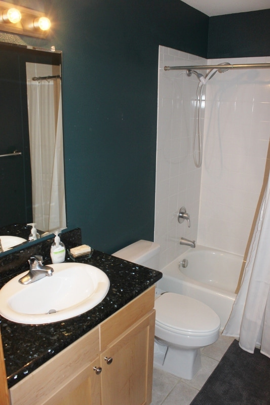 This is your private bathroom adjacent to your bedroom door.