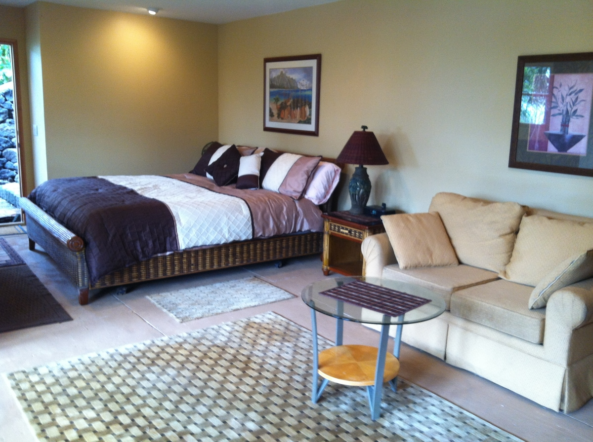 Master bedroom with common area for relaxing (day light shot)