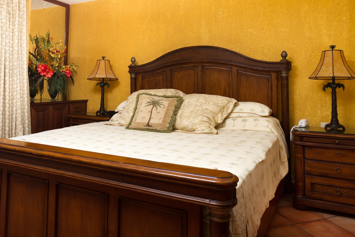 completely remodeled room with king bed imported furniture
