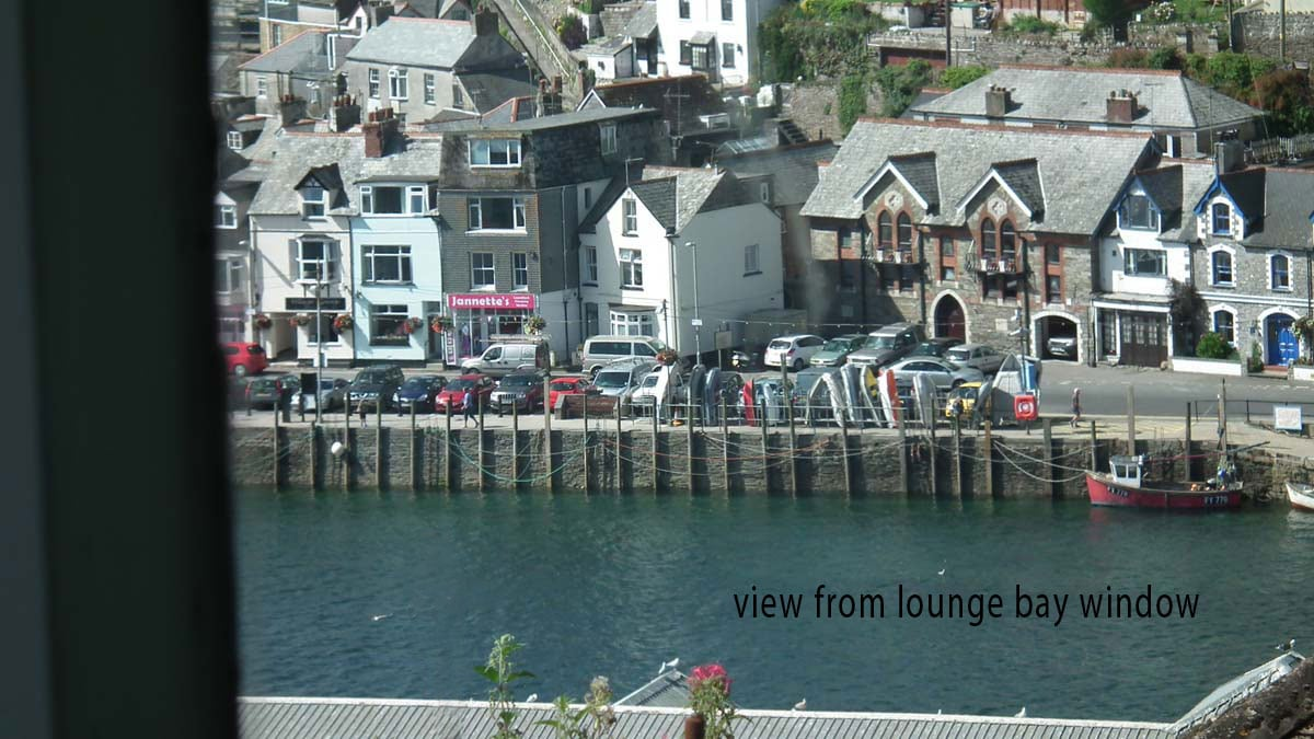 Stunning Views from the Lounge Bay Window Overlooking Looe Harbour with Fishing Boats Bobbing about Below