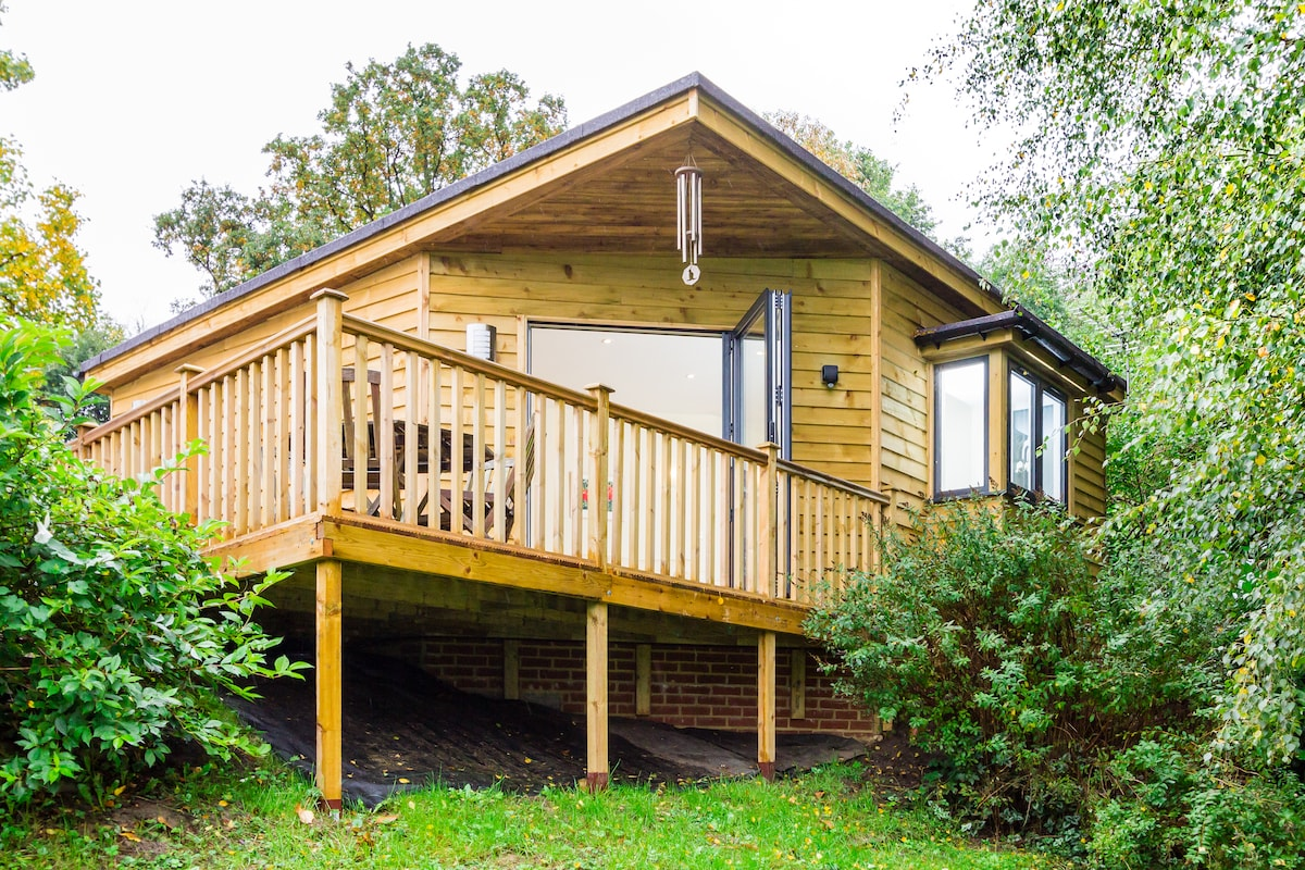 Amazing woodland lodge near Cobham