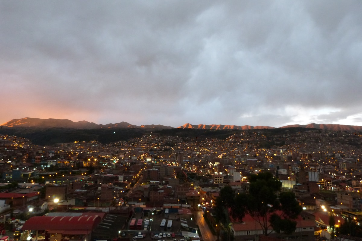 the most beautiful view of Cusco from your room!