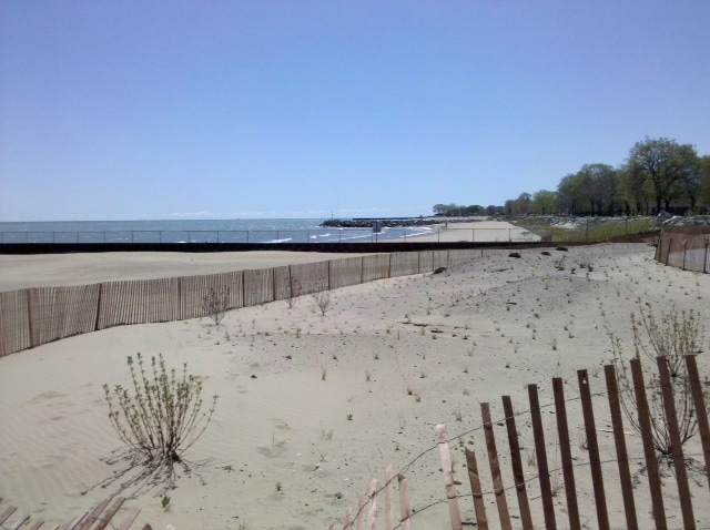 The Beach during off season weather.