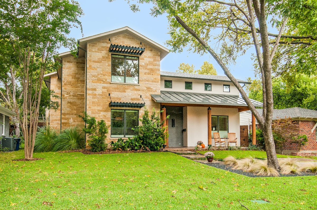 Modern Home in the Heart of the Lakewood Neighborhood in Dallas just feet from White Rock Lake Park