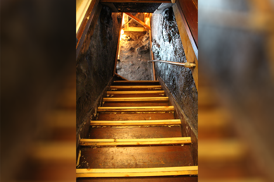 Welcome to the mineshaft - the entrance to your room