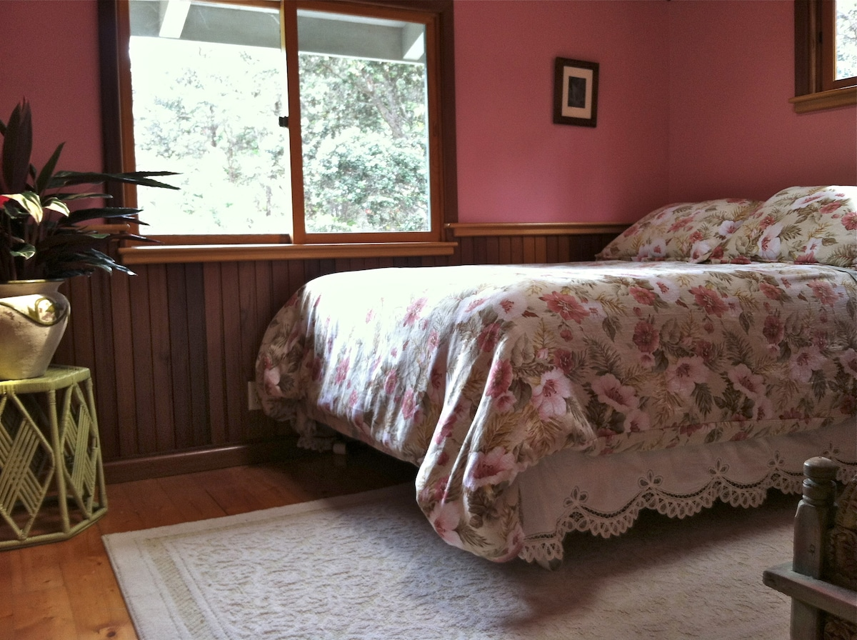 Comfortable, queen size bed with drawers underneath for storage
