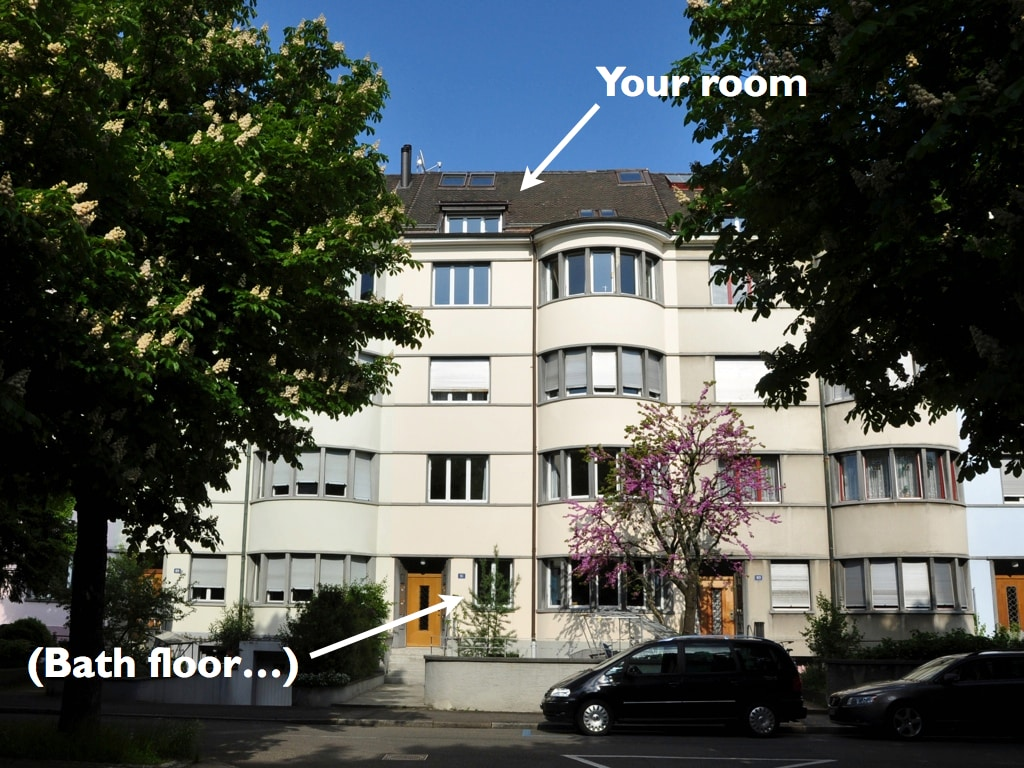 Two mansard rooms with own toilet