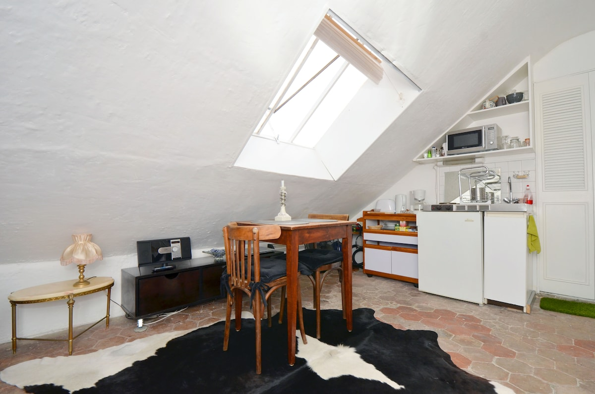 this airbnb photo was taken with a very wide angle